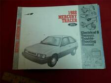 1988 Mercury Tracer *pre-11/87 Build Date* Electrical Wiring Diagrams OEM Manual