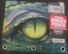 Vaultz Zippered Binder Pouch with Combination Lock Crocodile Eye