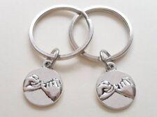 Pair of Pinky Promise Key Rings / Handbag Charms. Handmade. In Gift Box.