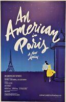 An American in Paris Musical 11 x 17 Window Card poster Broadway George Gershwin