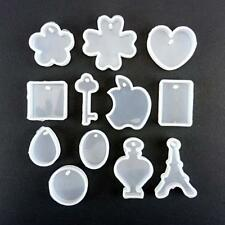 Buddly Crafts Clay & Sugarcraft Silicone Moulds - 12pcs Pendants & Tags