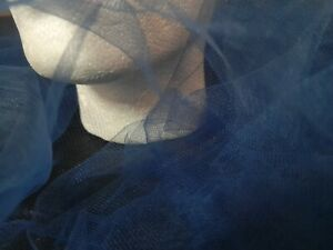 FRENCH NAVY - SUPER SOFT TULLE MESH FABRIC - WEDDINGS EVENTS - 240cm wide