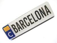 Barcelona Ortsschild 10 cm Foto Magnet Epoxid Spanien Souvenir