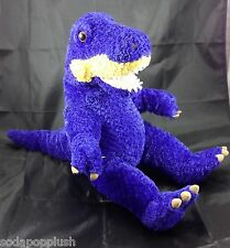 "BUILD A BEAR WORKSHOP Blue Tan Dinosaur T-Rex Plush Stuffed Animal Dino Toy 18"""