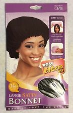 Large satin BONNET_cover most hair style_black color_one Pack_item no #157