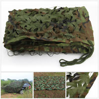 2m x 3m Woodland Leaves Camouflage Camo Net Cover Camping Military Hunting