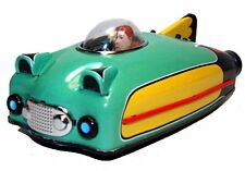 Schylling Future Car Tin Toy Green Friction Powered Motor