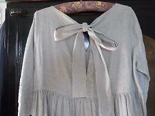 Les filles Hackman gris lin Bow robe dos taille S