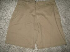 BASIC EDITIONS Dark Camel Khaki Tan 4 Pocket Cotton Work or Uniform Shorts 36