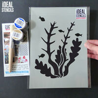 Seaweed stencil sea life home wall decor Nautical reusable painting stencils