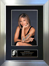 More details for barbra streisand signed autograph mounted photo repro a4 print 225