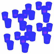 QTY 24 Flicking BLUE Color Flameless Led Lights Candle Tea Candles Votives NEW