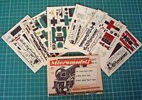 1950s Vintage Original Micromodels NS3 LMS & GWR Locomotives 2/6 Rare Set