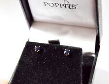 Genuine sapphire earrings, gold filled sapphire studs, gold filled studs, UK