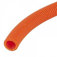 25mm HD ORANGE Corrugated Conduit x 25Meters