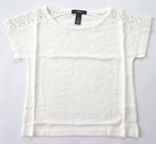NEW GAP Kids Girls XS 4T-5T White Lace Cotton Short Sleeve T-Shirt