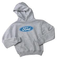 Youth Hoodie Ford logo gray kids sweatshirt ford hoodie boys 2 4 6 8 10 12 gray