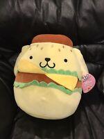 "NEW SQUISHMALLOW HELLO KITTY SANRIO 12"" Burger Pom Pom Purin Plush Mochi Toy"