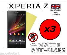 3x HQ MATTE ANTI GLARE SCREEN PROTECTOR COVER LCD GUARD FILM FOR SONY XPERIA Z