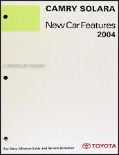2004 Toyota Camry Solara Coupe Service Training Manual Original OEM