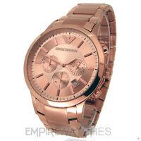*NEW* MENS EMPORIO ARMANI ROSE GOLD CHRONOGRAPH WATCH - AR2452 - RRP £399.00