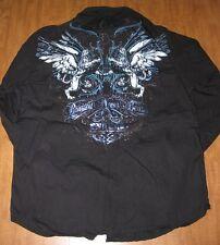 MMA ELITE small button-down shirt Mixed Martial Arts logo Bruised Never Beaten