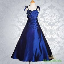 Royal Blue Flower Girl Dresses Up Ball Gown Wedding Bridesmaid Party Sz 10 #167