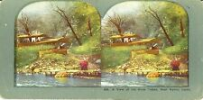 RIVER TAKAO stereoscopic card KYOTO Japan 1800s