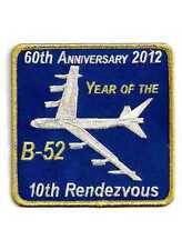 """USAF Patch B-52 10th RENDEZVOUS, 60th ANNIVERSARY - """"YEAR OF THE B-52"""" - Large"""