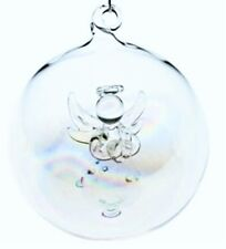 Gisela Graham Angel Glass Bauble Set of Six Xmas Decoration Angel Bauble Set 6
