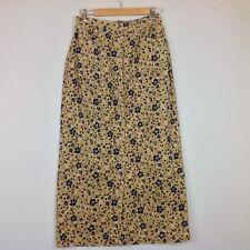 Bobbie Brooks Maxi Skirt Women 10 Corduroy Floral