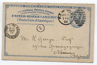 1893 UY2r New York to Belgium Scott Stamp Co. [L.259]