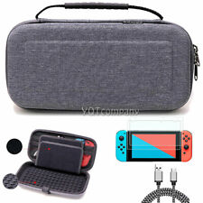 For Nintendo Switch Travel Case Storage Bag+Screen Protector+Cover Accessories