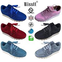 Womens Sequin Glitter Sneakers Ladies Fashion Sparkle Trainers Walk Shoes Sizes