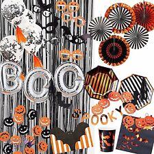Luxury PUMPKIN PARTY Tableware Decoration Plates Cups Napkins Halloween Banner