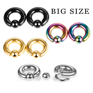 1pcs Big size Captive Bead Ring Surgical Steel Cartilage Piercing Tragus Earring