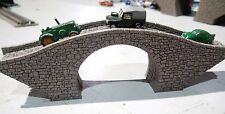 Z GAUGE STONE BRIDGE DOUBLE TRACK NEW MODEL OVERPASS LASER ENGRAVED PRO PAINTED