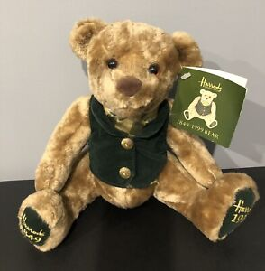 VINTAGE TEDDY BEAR HARRODS 150th ANNIVERSARY Employee Ed. Signed M. Al Fayed