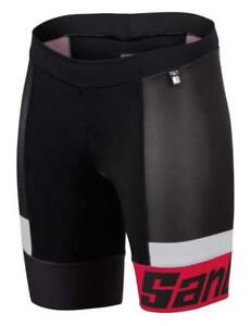 Sleek 2.0 Women's Triathlon Shorts in Red Made in Italy by Santini