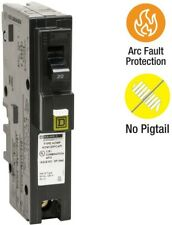 Circuit Breaker 20 Amp Single-Pole Plug-On Neutral Combination Arc Fault (CAFCI)