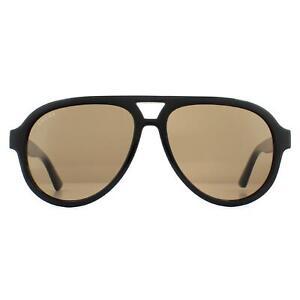 Gucci Sunglasses GG0767S 002 Black Brown