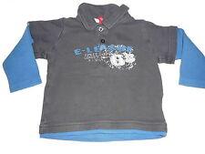 Esprit tolles Langarm Shirt Gr. 74 blau mit Polokragen !!