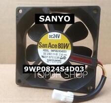 SANYO 9WP0824S4D03 nverter waterproof cooling fan DC24V 0.1A 80*80*25MM 3pin