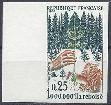 MILLIONIÈME HECTARE REBOISÉ N°1460 TIMBRE NON DENTELÉ IMPERF 1965 NEUF ** MNH