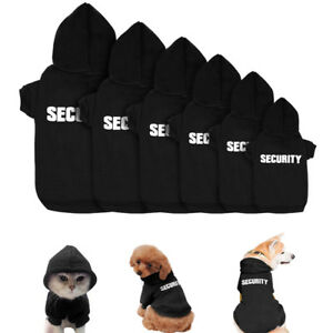 Black Dog Clothes Hoodies Pet Puppy Chihuahua Clothes Sweatshirts for S/M Dogs