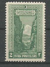 1926 TURKEY REGULAR ISSUE STAMPS 2k TRAIN LOCOMOTIVE RAILROAD MNH**