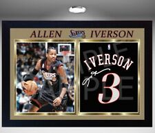 ALLEN IVERSON SIXERS Phila 76ers signed autograph Basketball Framed photo print