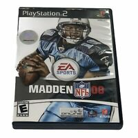 Madden NFL 08 (Sony PlayStation 2, 2007) Complete Tested Works