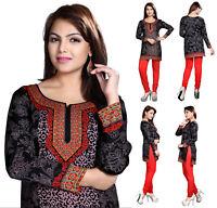 Unifiedclothes  Indian Pakistani Printed Short Kurti Tunic Kurta Top Dress 128A