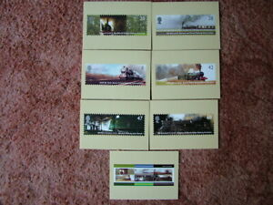 PHQ Stamp card set No 260 CLassic Locomotives 2004. 7 card set  Mint Condition